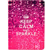 Keep Calm and Sparkle PU Leather Full Body Case with Stand for iPad Air