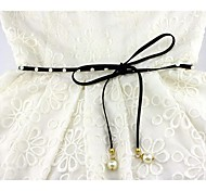 Women Skinny Belt,Cute / Casual Pearl / Leather All Seasons