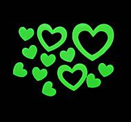 maison romantique veilleuses absorptiométrique stickers en forme de coeur