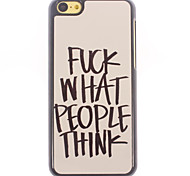 Fuck What People Think Design Aluminium Hard Case for iPhone 5C