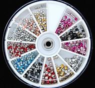 500pcs colori della miscela 2 millimetri e 3 millimetri di forma rotonda borchie 3d rviets rotella del chiodo decorazione di arte