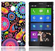 Fiori e cerchi di caso del modello gommata posteriore duro per Nokia X X +