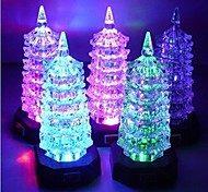 Colorful  Pagoda Design Glass Night Light(Random Color x1pcs)