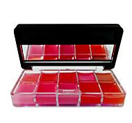 1 Pcs pas se fanent et imperméable à l'eau des dégradés Colorful vaisselle Lip Gloss
