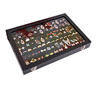 Classic Slap-up Wing Jewelry Cover Stand Black Paper Flannelette Jewelry Boxes(1 Pc)