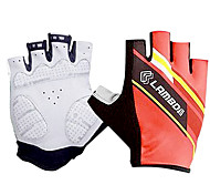 Glove Cycling / Bike All / Men's Fingerless Gloves Quick Dry / Breathable Spring / Summer / Autumn Red S - LAMBDA