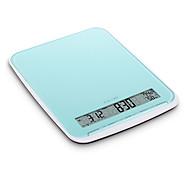 Balanza de cocina electrónica 10kg/22lb lcd con el temporizador de la alarma y termómetro (temperatura ambiente) y el botón de contacto