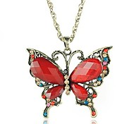 Fashion Butterfly Alloy Pendant Necklace