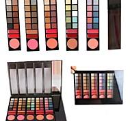 Berufs 78 Farbe 60 Eyeshadow / Rouge 6/12 Lipgloss-Palette mit Spiegel&Schwammapplikator Make-up-Set