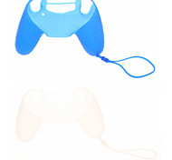 Case Skin 2pcs New Design de silicone protetora com corrente para PS4 Controlador