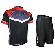 Ternos ( Preto/Vermelho ) - de Ciclismo/Trilha - Unissexo - Respirável/Secagem Rápida/Design Anatômico/wicking/Bolso Traseiro - comManga