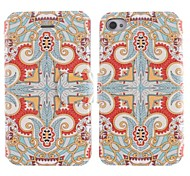 National Wind Restoring Ancient Ways Design PU Leather Full Body Case with Stand and Card Slot for iPhone 4/4S