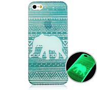 Elephant Pattern Fluorescence after Sunniness Hard Back Case for iPhone 4/4S
