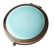 1 Pcs Glaze Handmake Ceramics Portable And Classical Retro Bronze Mirror