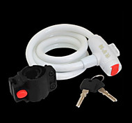 YELVQI Mountain Bike White Anti-Theft Wire Lock