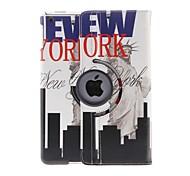 Kinston 360 gradi girevole Live in New York modello PU Custodia in pelle completo con supporto per iPad Air