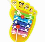 Children's Wooden Feet Shape Hand Gamut Knock Voice Musical for Educational Toys