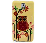 Heavy Eyebrows Owl Pattern Soft Case for Samsung Galaxy Note 3 N9000 N9001