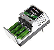Soshine Battery Charger for AA/AAA/9V/Ni-MH/Ni-Cd with EU Plug(Included 4xAAA)