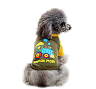 Pet Clothing Spring And Autumn Cartoon Traint-Shirt for Pets Dog