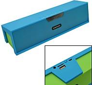 mini alto-falante Bluetooth v3.0 com rádio fm / aux / despertador / tf / porta usb para o telefone