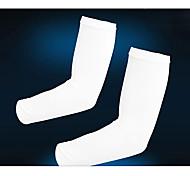 KORAMAN Unisex Lycra White Cycling Anti-UV Oversleeves(free size)