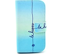 Be Happy Design PU Leather Full Body Case with Stand for Samsung Galaxy S3 Mini I8190