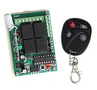12V 4-Channel Wireless Remote Power Relay Module with Remote Controller (DC 14V)