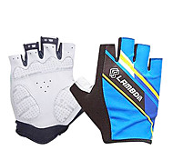 LAMBDA Light Blue Polyester Anti-skid Half Finger Cycling Gloves
