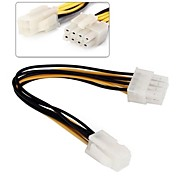 4Pin to 8Pin EPS 12V ATX Motherboard Power Supply Adapter Converter Cable 0.1M 0.3FT