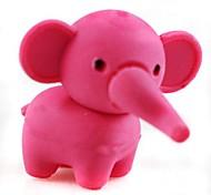 apagador elefante muito destacável em forma (cor aleatória x 2 pcs)