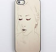 Pencil Sketch Girl Design Aluminum Hard Case for iPhone 4/4S
