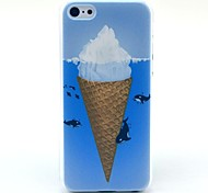 Eating Ice Cream Dolphin Pattern Hard Case for iPhone 5C