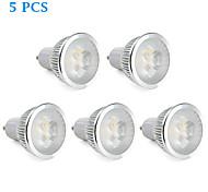 5 pcs GU10 5.5 W 3 High Power LED 310 LM Warm White MR16 Dimmable Spot Lights AC 220-240 V