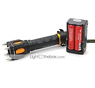 Lights LED Flashlights/Torch / Handheld Flashlights/Torch LED 1000 Lumens 5 Mode Cree XM-L T6 18650Adjustable Focus / Waterproof /