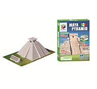 Educational Toys Magic Puzzle Maya Pyramid Egypt Model 3D Puzzle for Children and Adult Jigsaw Puzzle(19PCS, B668-5)