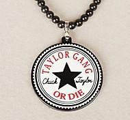 Star  Pattern Acrylic Necklace