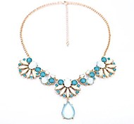 Golden / Light Blue / White Statement Necklaces Party / Daily / Casual Jewelry