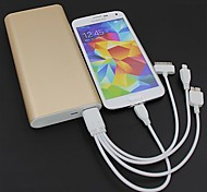 20000mAh Portable External Battery and 4 in 1 USB Charging Cable for Mobile Devices(Assorted Colors)