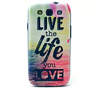 Live Life Sea Pattern Hard Case Cover for Samsung Galaxy S3 I9300