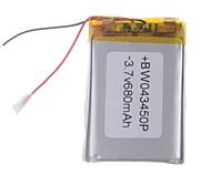 3.7V 680mAh de litio polímero de litio para teléfonos móviles MP3 MP4 (4 * 34 * 50)
