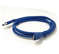 1m 3.2ft USB 3.0 A macho a micro-b cable de extensión masculino de envío libre azul