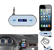 Transmissor FM Sem Fio 3.5mm Automotivo para Apple iPhone 5, Samsung Galaxy S2 SII S3 SIII S4 SIV i9500 Note 2 Note 3