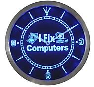 I Fix Computer Repair Gift  Neon Sign LED Wall Clock