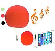 Lindo mini portátil de 3,5 mm Jack de audio Cool Music Música altavoz de la bola del jugador Clear Sound (colores surtidos)