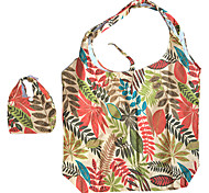 Eco-Friendly Colorful Leaf Pattern Folding Shopping Bag