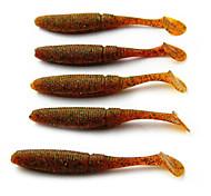Venda quente 3g 8,5 centímetros Worm macio cauda Grub Lure (10pcs)