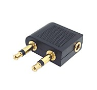 90 Degree Right Angled 3.5mm 1/8 Stereo Female Mini Jack to 2 Male RCA Audio Y type Plug Adapter