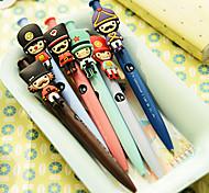 Cartoon Soldier Design Gel Pen(Random Color)