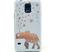 goldenen Stern Elefantenmuster Hard Case für das Samsung Galaxy i9600 s5
